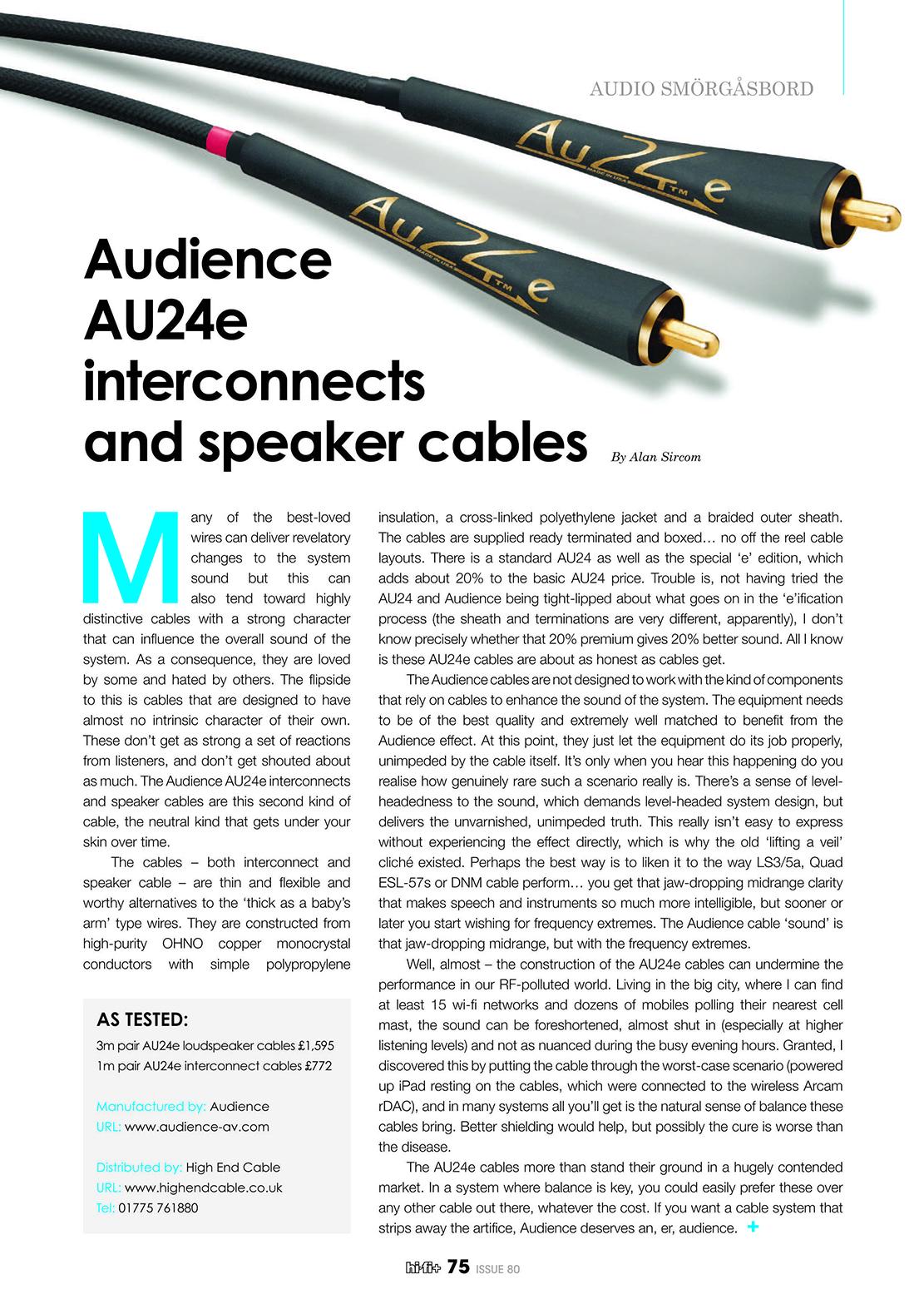 Audience Au24e Review